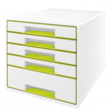 Cabinet cu sertare, 5 sertare, verde, LEITZ WOW