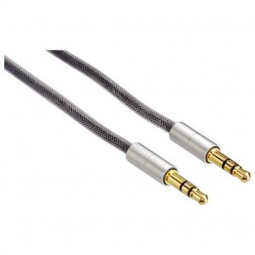 Cablu audio Jack-Jack 3.5mm pentru smartphone, 2m, HAMA AluLine Gold-Plated