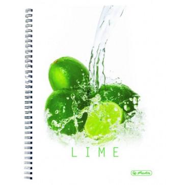 Caiet A4 dictando, cu spira, 70 file HERLITZ Lime