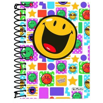 Caiet A6 matematica, cu spira, 200 file, HERLITZ Smiley World Happy