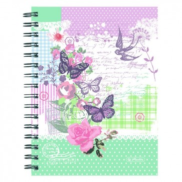 Caiet A5, matematica, 100 file, HERLITZ  Ladylike Butterfly