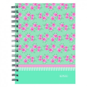 Caiet A5, matematica, 100 file, HERLITZ Ladylike Roses