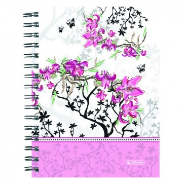 Caiet A5, matematica, 100 file, HERLITZ Ladylike Bloom
