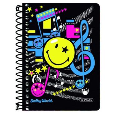 Caiet A6 matematica, cu spira, 200 file, HERLITZ Smiley World Pop
