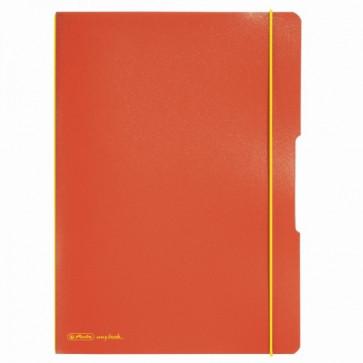 Caiet A4, 40 file, matematica, coperta portocaliu, elastic galben, HERLITZ My.Book Flex