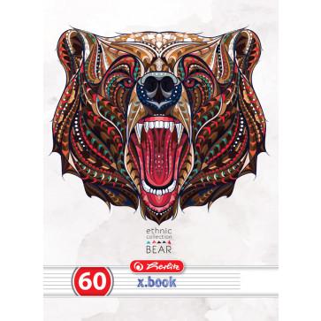 Caiet A4 dictando, 60 file, HERLITZ Ethnic Animals