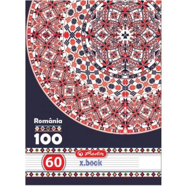 Caiet A4 dictando, 60 file, HERLITZ Romania 100