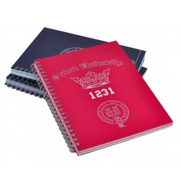 Caiet cu spira, A4, 120 file, 2 culori, DMV rosu, PIGNA Oxford