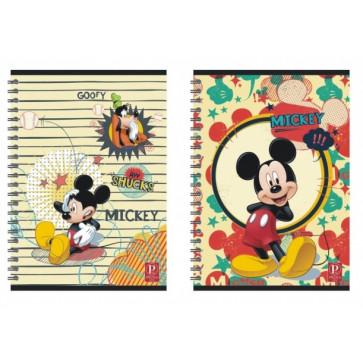 Caiet cu spira, A4, 80 file, matematica, PIGNA Premium Mickey Mouse