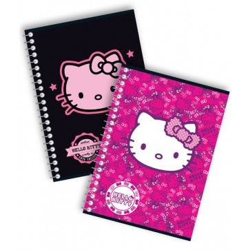 Caiet cu spira, A5, 80 file, dictando, PIGNA Premium Hello Kitty
