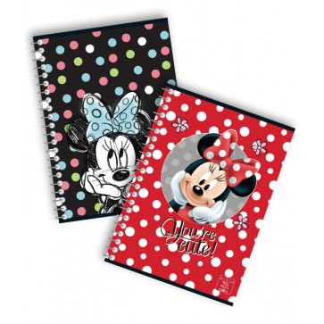 Caiet cu spira, A5, 80 file, dictando, PIGNA Premium Minnie Mouse