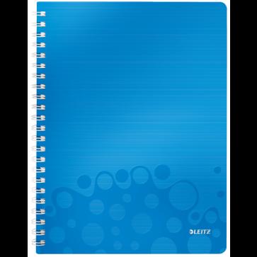 Caiet de birou, A4, dictando, albastru metalizat, LEITZ WOW