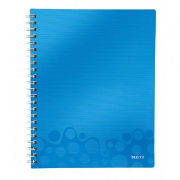 Caiet de birou, A4, dictando, albastru metalizat, LEITZ WOW Get Organized