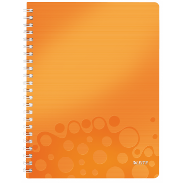 Caiet de birou, A4, dictando, portocaliu metalizat, LEITZ WOW