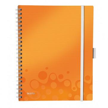 Caiet de birou, A4, dictando, portocaliu metalizat, LEITZ WOW Be Mobile