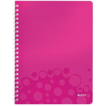 Caiet de birou, A4, dictando, roz metalizat, LEITZ WOW