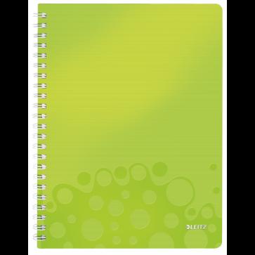 Caiet de birou, A4, dictando, verde metalizat, LEITZ WOW