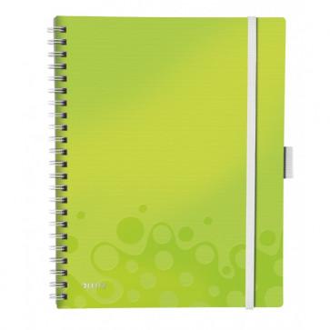 Caiet de birou, A4, dictando, verde metalizat, LEITZ WOW Be Mobile