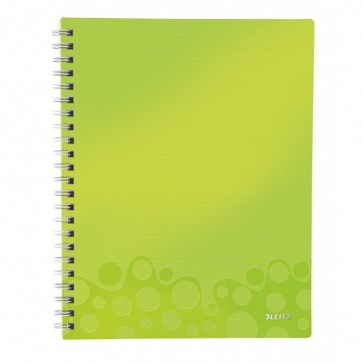 Caiet de birou, A4, dictando, verde metalizat, LEITZ WOW Get Organized
