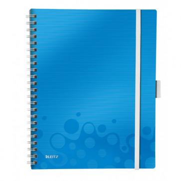 Caiet de birou, A4, matematica, albastru metalizat, LEITZ WOW Be Mobile