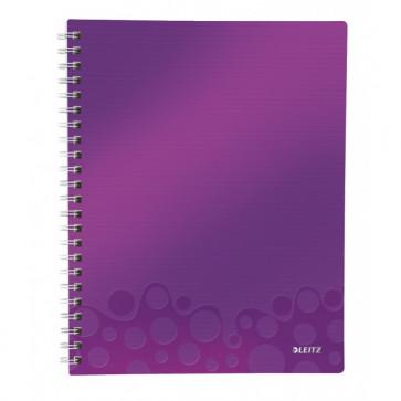 Caiet de birou, A4, matematica, mov metalizat, LEITZ WOW Get Organized