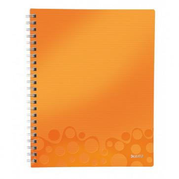 Caiet de birou, A4, matematica, portocaliu metalizat, LEITZ WOW Get Organized