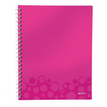 Caiet de birou, A4, matematica, roz metalizat, LEITZ WOW Get Organized