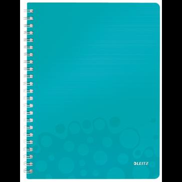 Caiet de birou, A4, matematica, turcoaz metalizat, LEITZ WOW