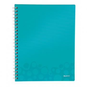 Caiet de birou, A4, matematica, turcoaz metalizat, LEITZ WOW Get Organized