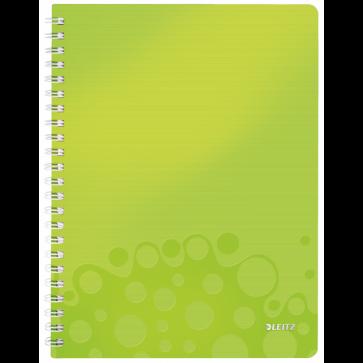 Caiet de birou, A4, matematica, verde metalizat, LEITZ WOW