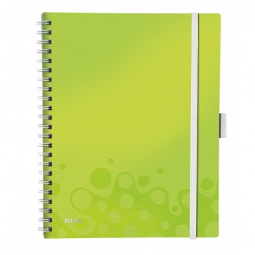 Caiet de birou, A4, matematica, verde metalizat, LEITZ WOW Be Mobile