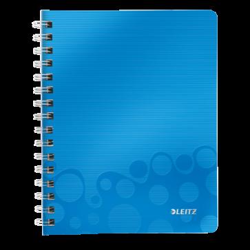 Caiet de birou, A5, dictando, albastru metalizat, LEITZ WOW