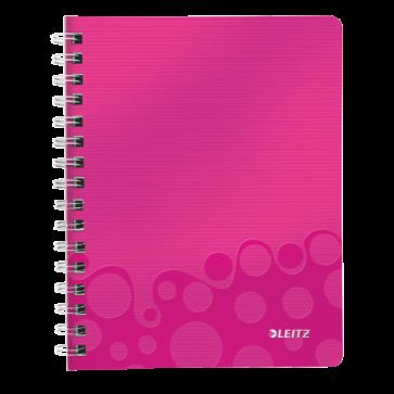 Caiet de birou, A5, dictando, roz metalizat, LEITZ WOW