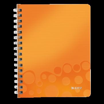Caiet de birou, A5, matematica, portocaliu metalizat, LEITZ WOW