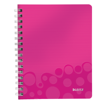 Caiet de birou, A5, matematica, roz metalizat, LEITZ WOW