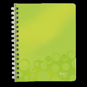 Caiet de birou, A5, matematica, verde metalizat, LEITZ WOW