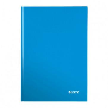 Caiet de birou, albastru metalizat, A4, coperta dura, matematica, LEITZ Wow
