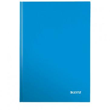 Caiet de birou, albastru metalizat, A5, coperta dura, dictando, LEITZ Wow
