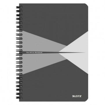 Caiet de birou, cu spira, coperta carton, A5, gri, matematica, LEITZ Office