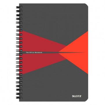 Caiet de birou, cu spira, coperta carton, A5, rosu, dictando, LEITZ Office