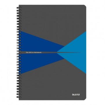 Caiet de birou, cu spira, coperta PP, A4, albastru, dictando, LEITZ Office