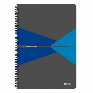 Caiet de birou, cu spira, coperta PP, A4, albastru, matematica, LEITZ Office