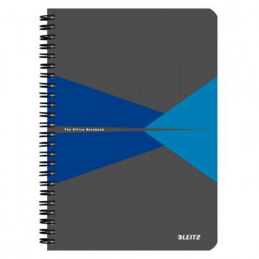 Caiet de birou, cu spira, coperta PP, A5, albastru, matematica, LEITZ Office