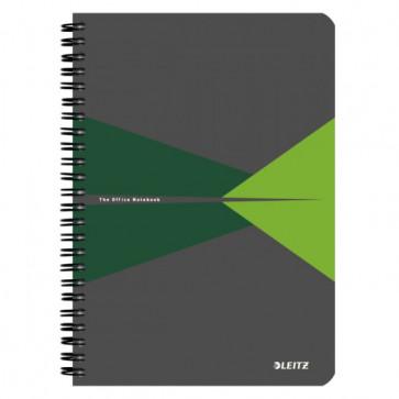 Caiet de birou, cu spira, coperta PP, A5, verde, matematica, LEITZ Office
