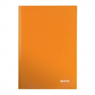 Caiet de birou, portocaliu metalizat, A4, coperta dura, dictando, LEITZ Wow