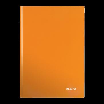 Caiet de birou, portocaliu metalizat, A4, coperta dura, matematica, LEITZ Wow
