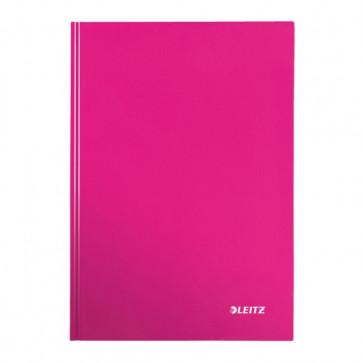 Caiet de birou, roz metalizat, A4, coperta dura, dictando, LEITZ Wow