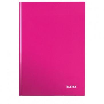 Caiet de birou, roz metalizat, A5, coperta dura, dictando, LEITZ Wow