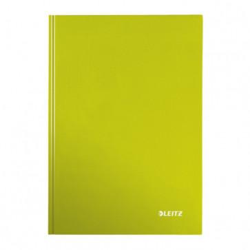 Caiet de birou, verde metalizat, A4, coperta dura, dictando, LEITZ Wow