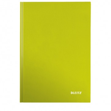 Caiet de birou, verde metalizat, A5, coperta dura, matematica, LEITZ Wow